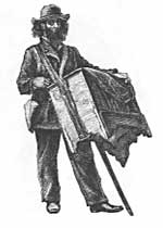 Old organ grinder illustration